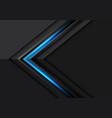 blue light grey arrow direction on dark vector image vector image