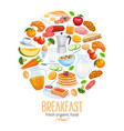 breakfast banner food design vector image vector image