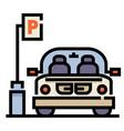 car park linecolor vector image vector image