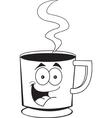 Cartoon Cup of Coffee vector image vector image