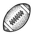 cartoon image of rugby icon sport symbol vector image vector image