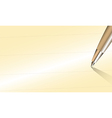 Close up Pen with write space on old paper vector image vector image