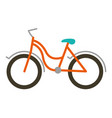 color silhouette with tourist bike icon vector image vector image