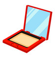 colorful cartoon compact blusher powder vector image vector image