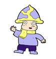 comic cartoon mushroom man vector image