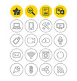 devices and technologies icons usb wi-fi vector image vector image