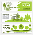 eco green business banner template design vector image vector image