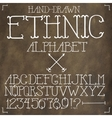 Ethnic hand drawn alphabet vector image