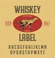 finest whiskey typeface poster vector image vector image