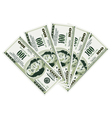 five hundred dollar bills vector image vector image