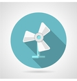 Flat icon for fan vector image