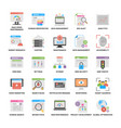 Flat icons of web and seo