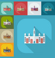 flat modern design with shadow icons castle canada vector image vector image