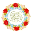 flower wreath Floral element for design of vector image vector image