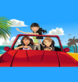 friends in a car vector image