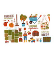 garden farm and agriculture big set collection vector image vector image