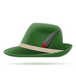 green german traditional hat vector image vector image