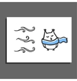 Greeting card with winter vector image