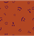 group face halloween pattern seamless color vector image