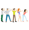 group people on a white background vector image