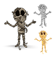 Halloween monsters isolated spooky mummies set vector image vector image