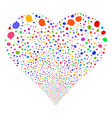 hint fireworks heart vector image vector image