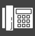 home phone solid icon household and appliance vector image