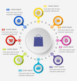 infographic template with shopping icons vector image vector image