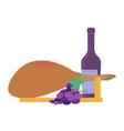 jamon serrano traditional spanish ham with wine vector image