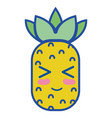 kawaii cute funny pineapple fruit vector image vector image