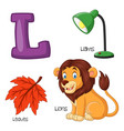 l alphabet vector image vector image