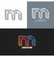 letter M logo alphabet design icon set background vector image vector image