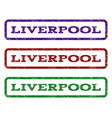 liverpool watermark stamp vector image