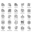logistic delivery icons set 5 vector image vector image