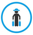 Male Passenger Circled Icon vector image vector image