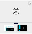 minimal z initial logo template get free vector image