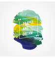 motivation poster travel and dream vector image vector image