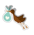 Newborn baby stork cartoon vector image