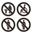 parent and child sign no disabled people allowed vector image