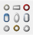 realistic detailed 3d portholes icons set vector image vector image