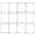retro classic elegant frame borders set vector image vector image
