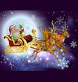 santa claus sleigh christmas scene vector image vector image