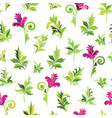 seamlessseamless floral pattern simple pink vector image