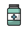 shadow pill bottle vector image vector image