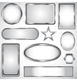 Silver label collection vector image vector image