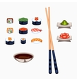 Sushi food vector image vector image