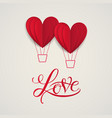 symbol of love on sweet background vector image