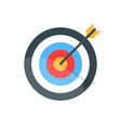 target with arrow goal achieve concept premium vector image