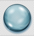 transparent light blue sphere with shadow vector image vector image