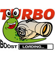 turbo snail vector image vector image